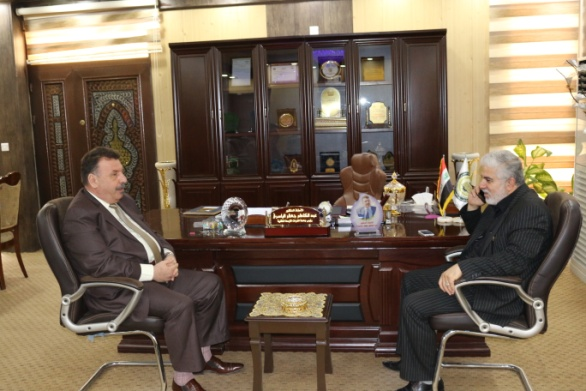 رئيس الجامعة يستقبل عضو مجلس النواب العراقي