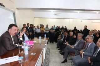 السيد رئيس الجامعة يزور معهد بابل التقني  ويعقد الاجتماع الأول لمجلس الجامعة