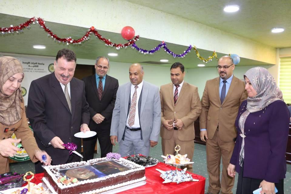 جامعة الفرات الأوسط التقنية تحتفي بمناسبة تأسيس الجمعية العراقية العلمية للتخصصات الهندسية والطبية والإدارية