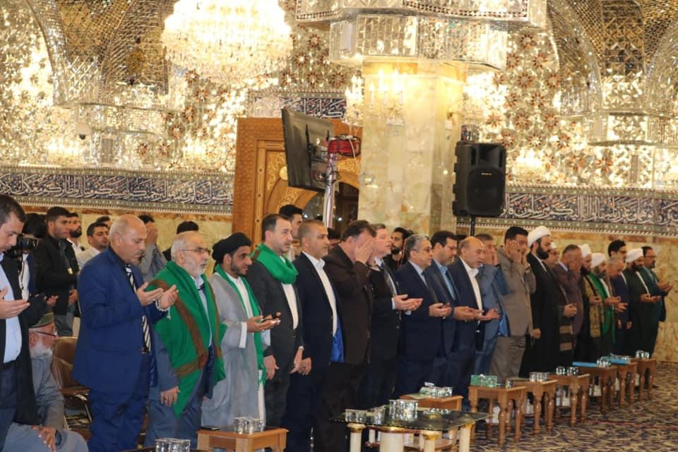 رئيس جامعة الفرات الاوسط التقنية يحضر حفل اختتام المسابقة القرآنية السادسة للجامعات في مسجد الكوفة المعظم