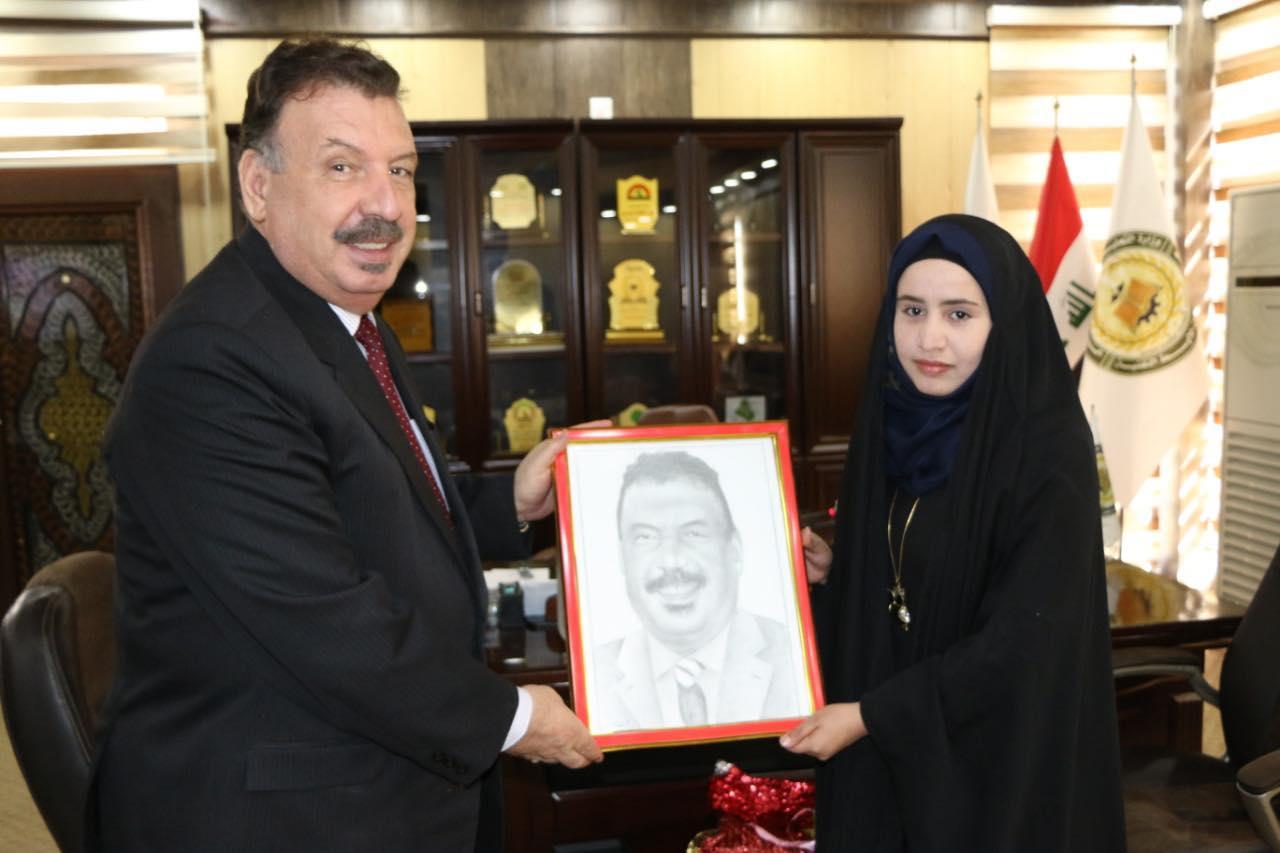 رئيس حامعة الفرات الأوسط التقنية يستقبل مؤسسة الفرق الفنية ومسؤول مواهب العراق